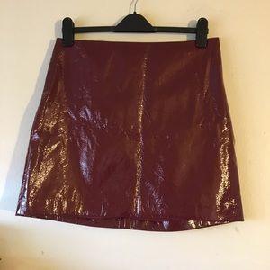 Express Patent Mini Skirt